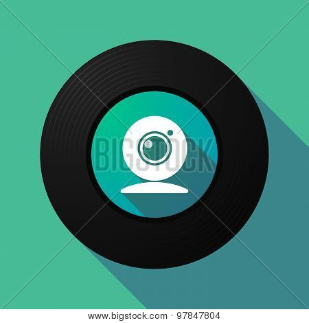 Vinyl Record With A Web Cam
