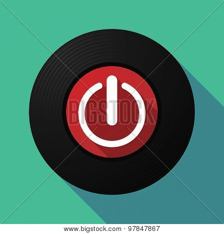 Vinyl Record With An Off Button
