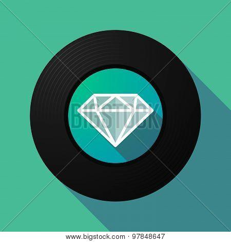 Vinyl Record With A Diamond