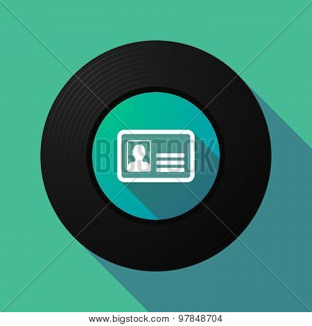 Vinyl Record With An Id Card