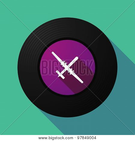 Vinyl Record With A War Drone