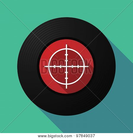 Vinyl Record With A Crosshair