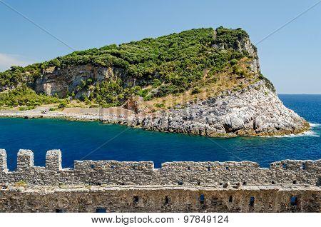 Capraia Island Near Portovenere, Liguria (italy)