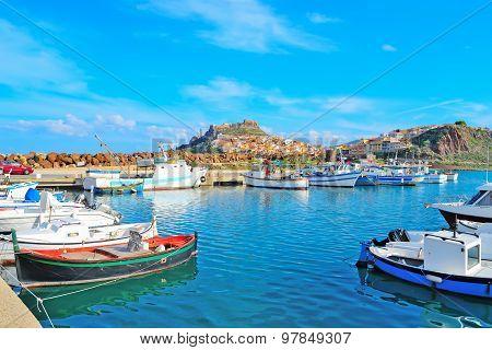 Castelsardo Harbor On A Clear Day