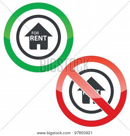 Rent permission signs