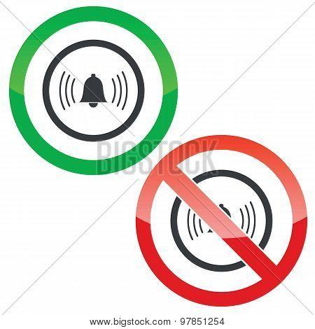 Alarm permission signs