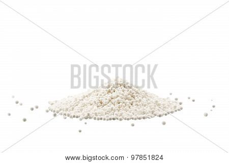 Pile Of Raw Tapioca Pearls Isolated