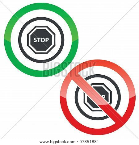 STOP permission signs