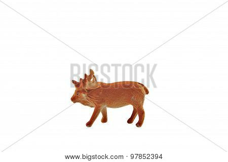 Isolated moose toy