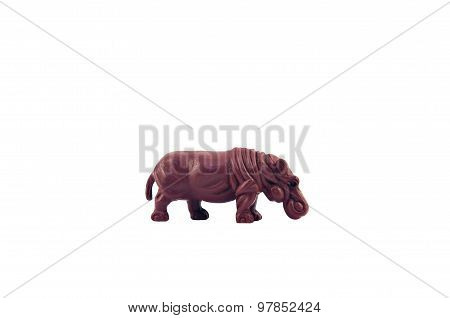 Isolated  hippopotamus toy