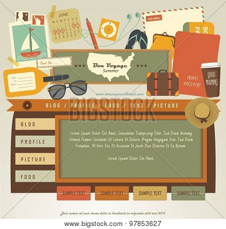 Vintage Web design elements (5)