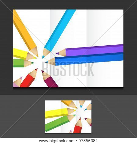 Education Trifold Template Illustration