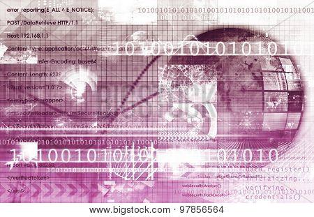 Technology Services on World Map Digital Art