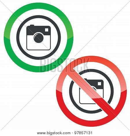 Square camera permission signs