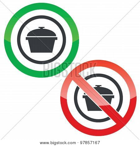 Pot permission signs