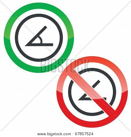 Angle permission signs