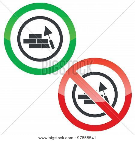 Build wall permission signs