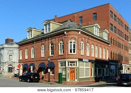 Portland Old Port Charles Q. Clapp Block, Maine