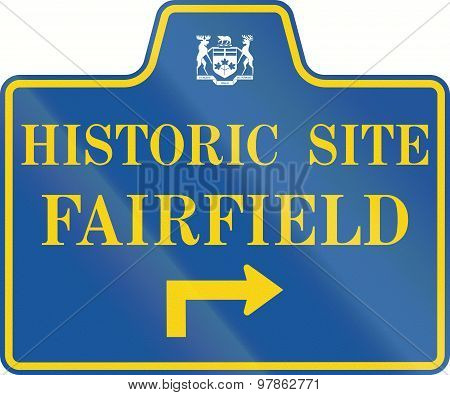 Historic Site Fairfield In Canada