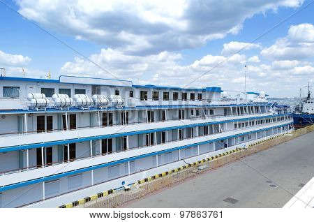 Cabins on cruise liner