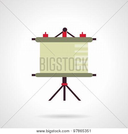 Presentation screen flat vector icon