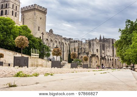 Popes' Palace In Avignon, France, Europe