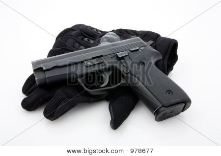 Pistol With Gloves