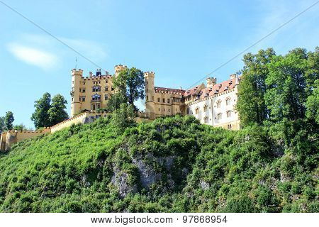 Hohenschwangau Castle Castle In Bavarian Alps, Germany