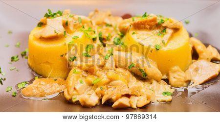Polenta With Boletus Mushroom Sauce