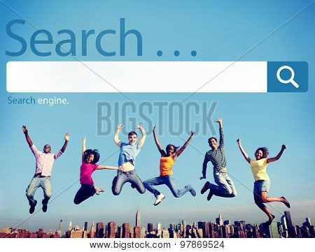Search Seo Online Internet Browsing Web Concept