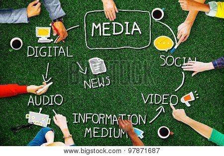 Digital Media Information Medium News Concept