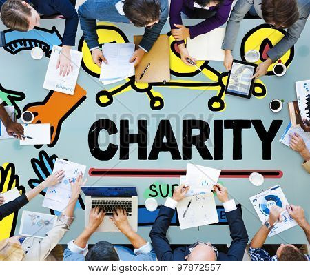 Charity Donation Give Help Support Concept