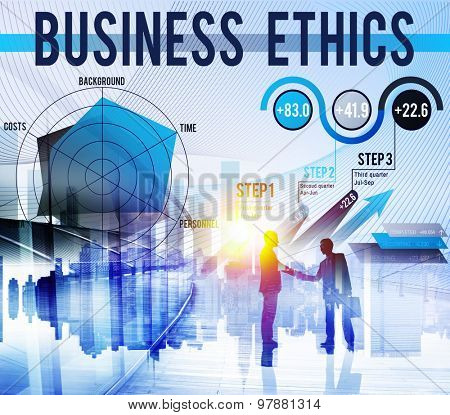 Business Ethics Integrity Moral Responsibiliyt Honest Concept