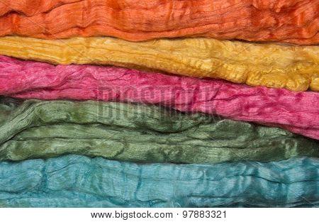 Merino And Silk Fibers