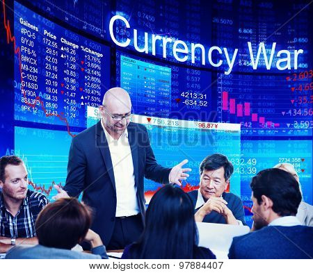 Currency Stock Exchange FInancial Risk Investment Concept