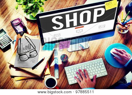 Shop Shopping Commercial Consumer Concept
