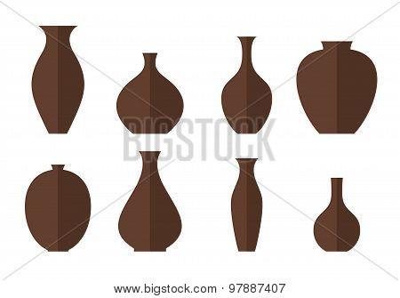Vase. Icon set