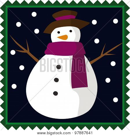 Snowman Chrisstmas Element
