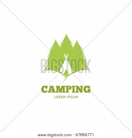 Vector Logo Of Camping