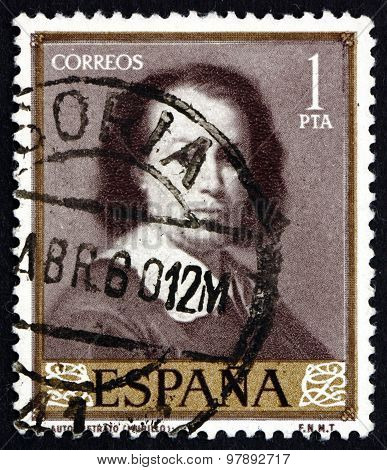 Postage Stamp Spain 1960 Immaculate Self-portrait, Painting By Murillo