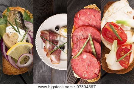 Spanish Tapas Photo Collage