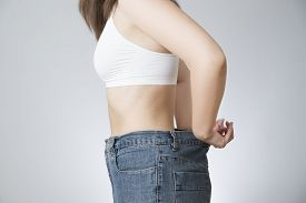 pic of slender  - The concept of weight loss - JPG