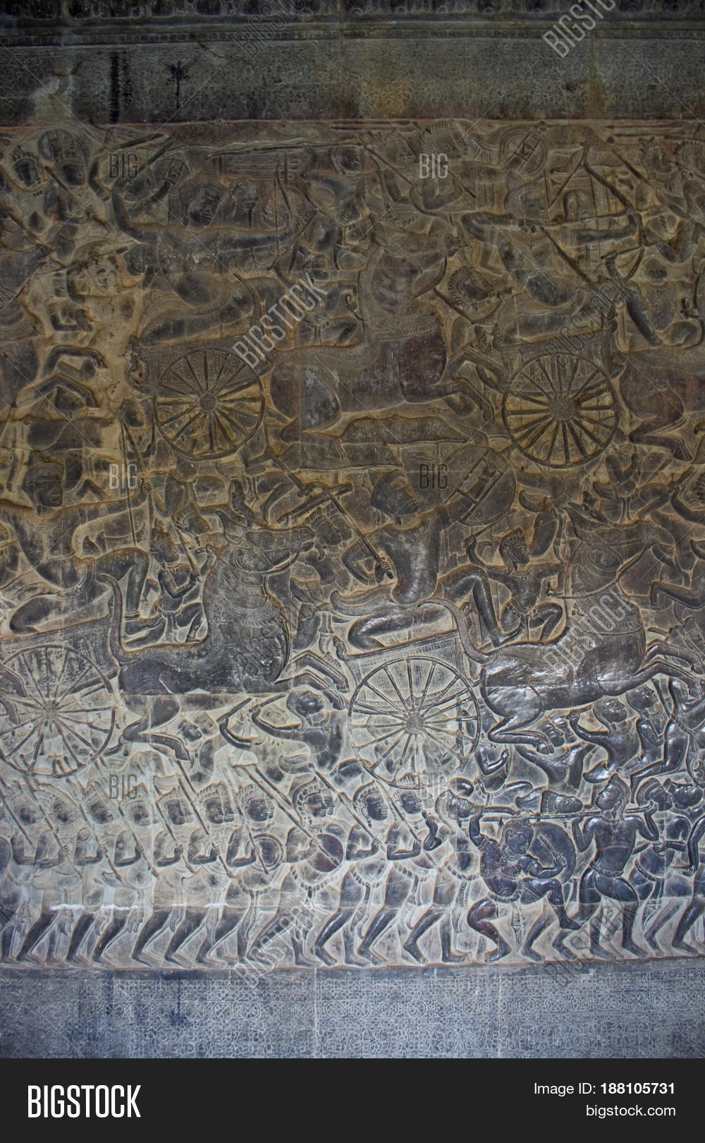 Relief carving angkor wat temple image photo bigstock