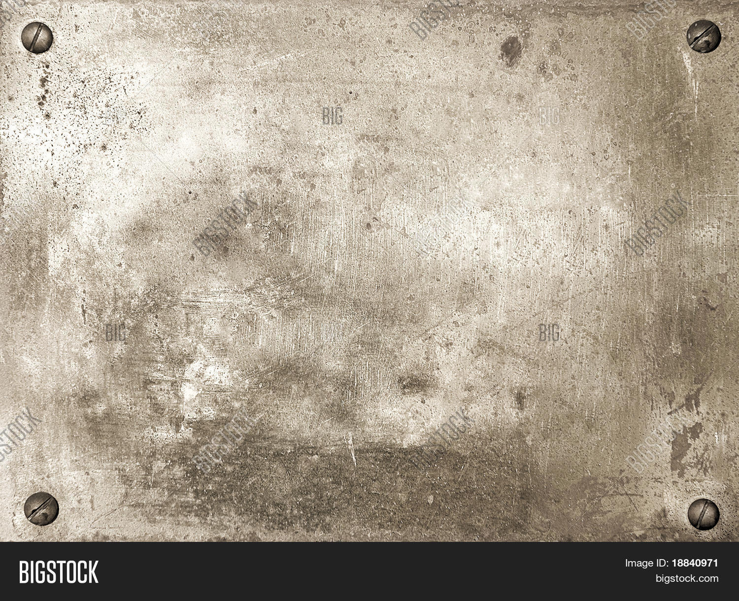 Brass shiny metal plate with screws background texture Stock Photo ...