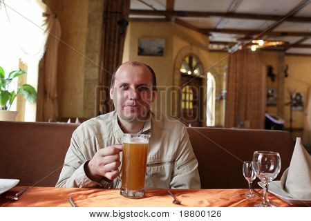 Happy Man With Beer