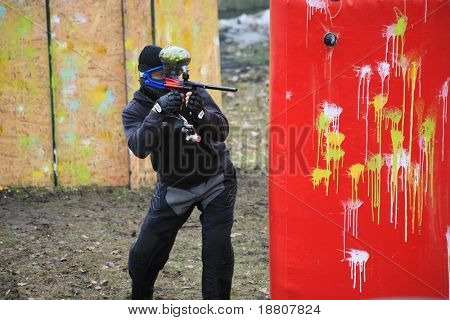 Paintball Competition in Wroclaw (Poland), March 2006