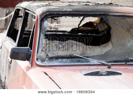 Fire Burnt Car Vehicle