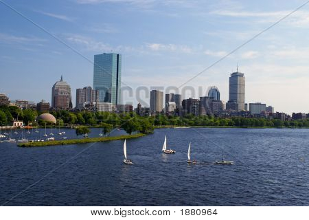 Sailboats In Boston