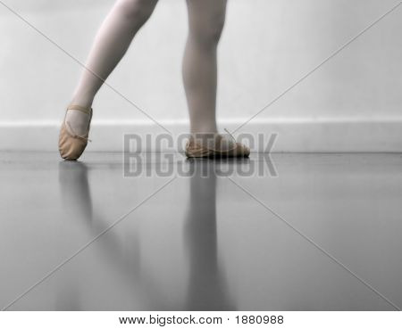 Dancer'S Legs And Ballet Shoes