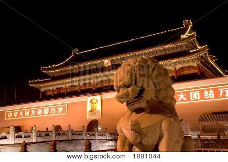 Tianenmen Square At Night, Beijing, China